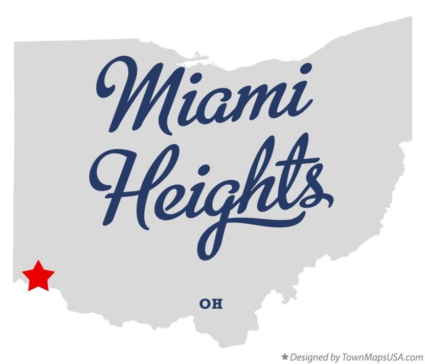 Map of Miami Heights Ohio OH