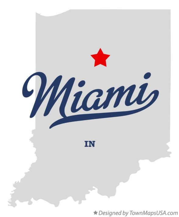 Map of Miami Indiana IN