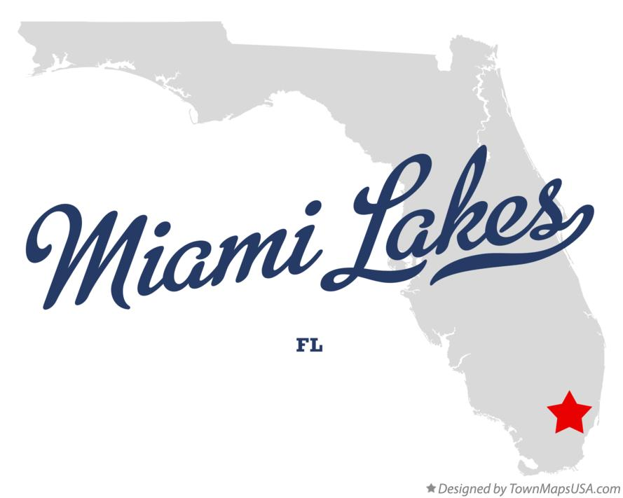 Map of Miami Lakes Florida FL