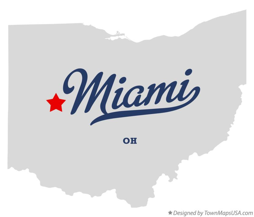 Map of Miami Ohio OH