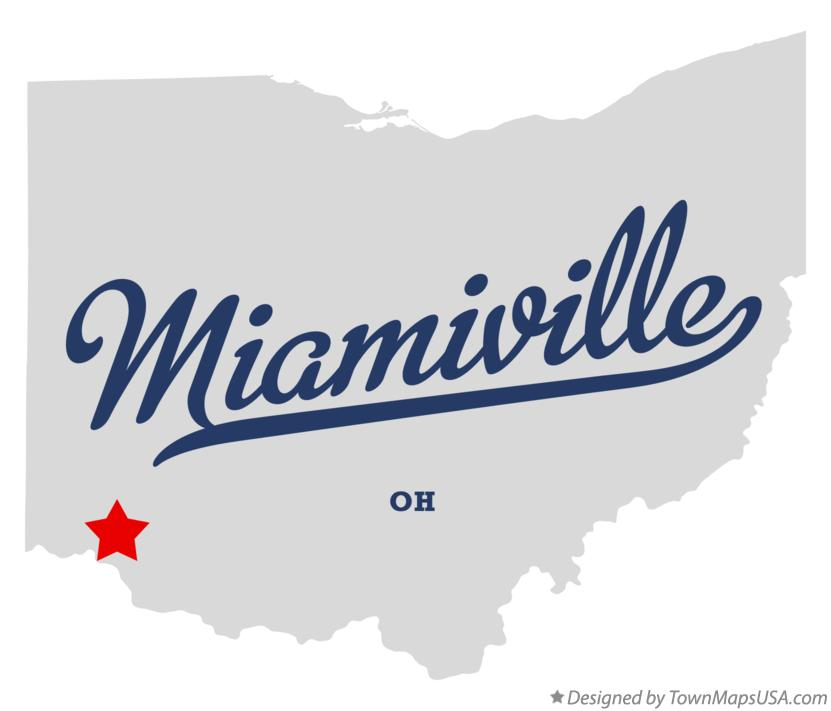 Map of Miamiville Ohio OH
