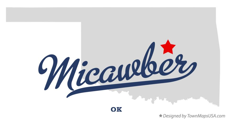 Map of Micawber Oklahoma OK