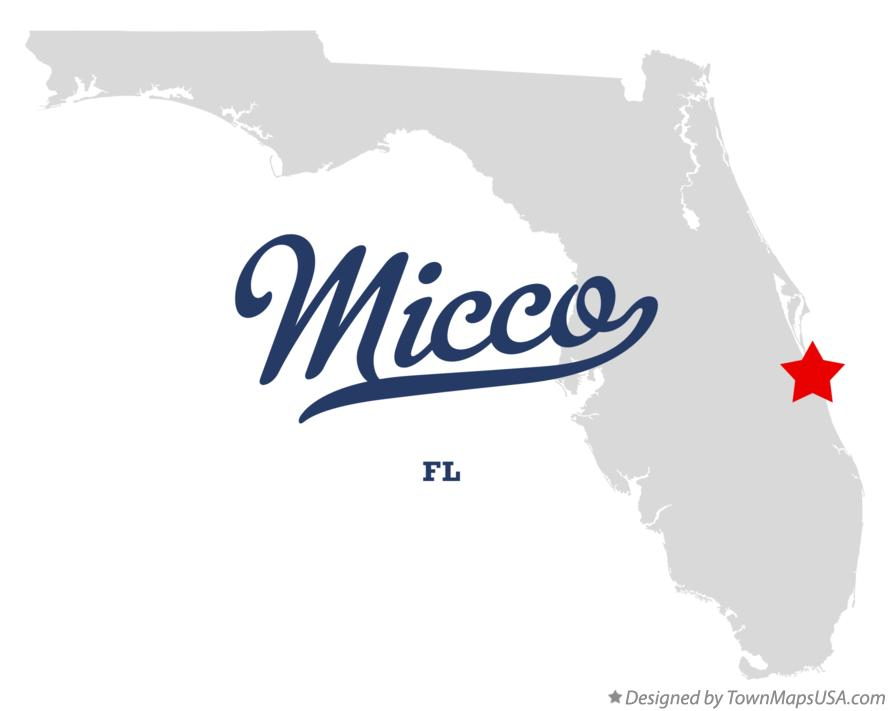 Map of Micco Florida FL