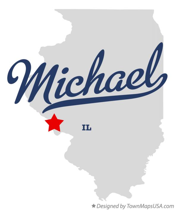 Map of Michael Illinois IL