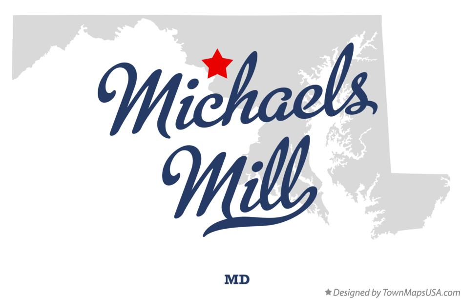 Map of Michaels Mill Maryland MD