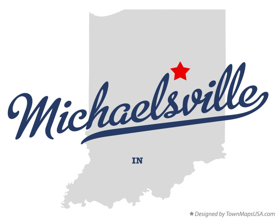 Map of Michaelsville Indiana IN