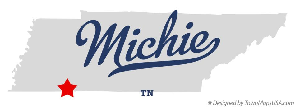 Map of Michie Tennessee TN
