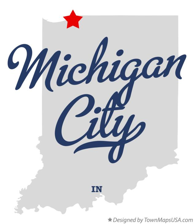 Map of Michigan City Indiana IN