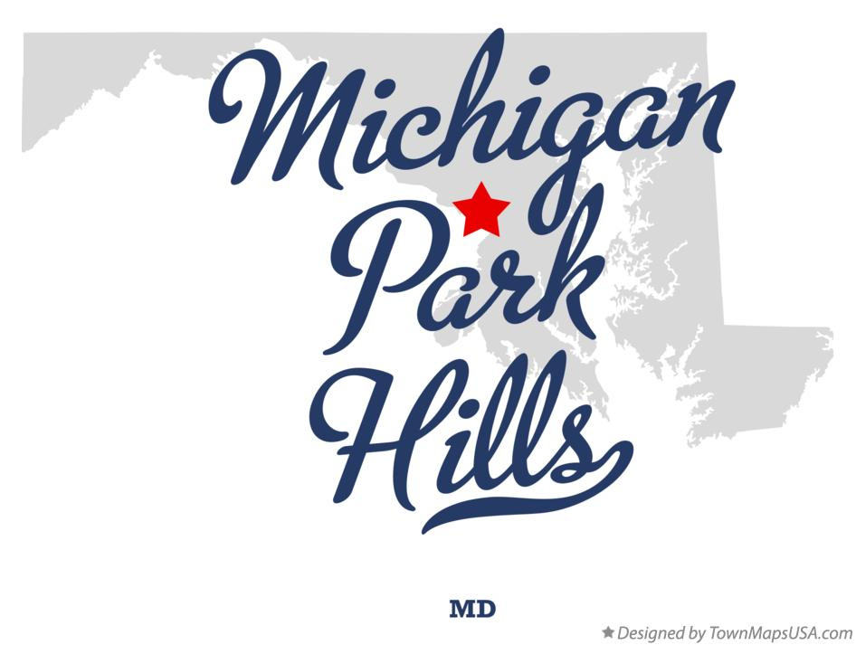 Map of Michigan Park Hills Maryland MD