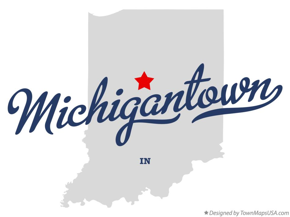 Map of Michigantown Indiana IN