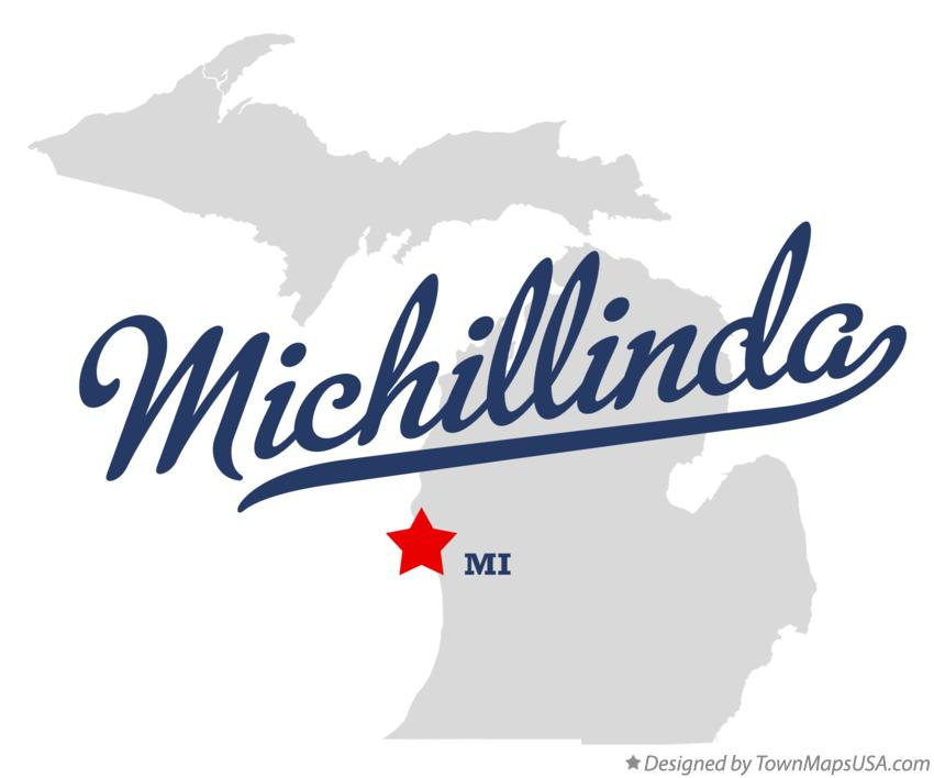 Map of Michillinda Michigan MI