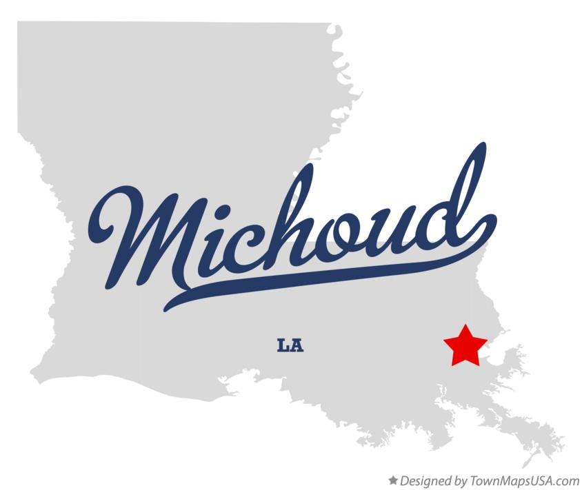 Map of Michoud Louisiana LA