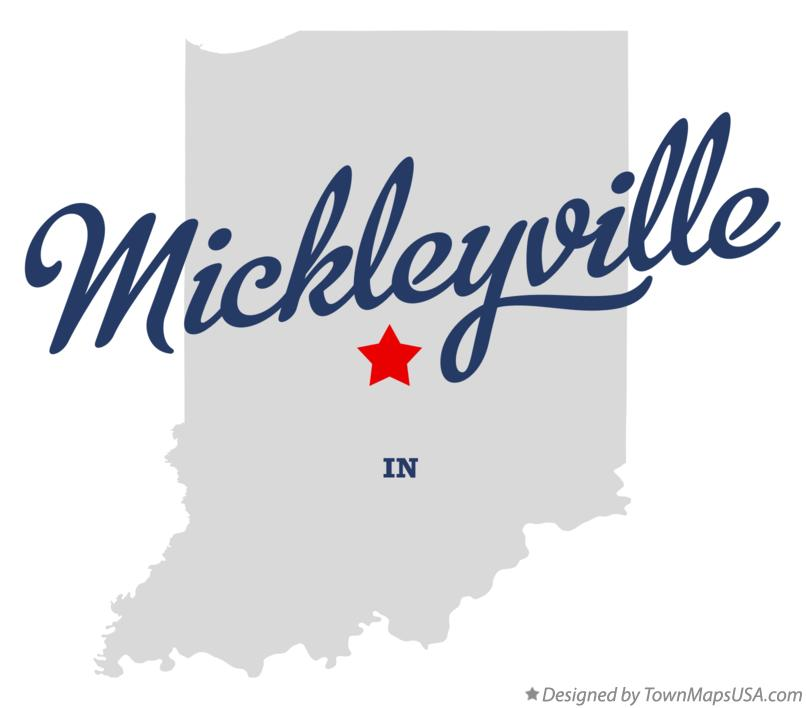 Map of Mickleyville Indiana IN