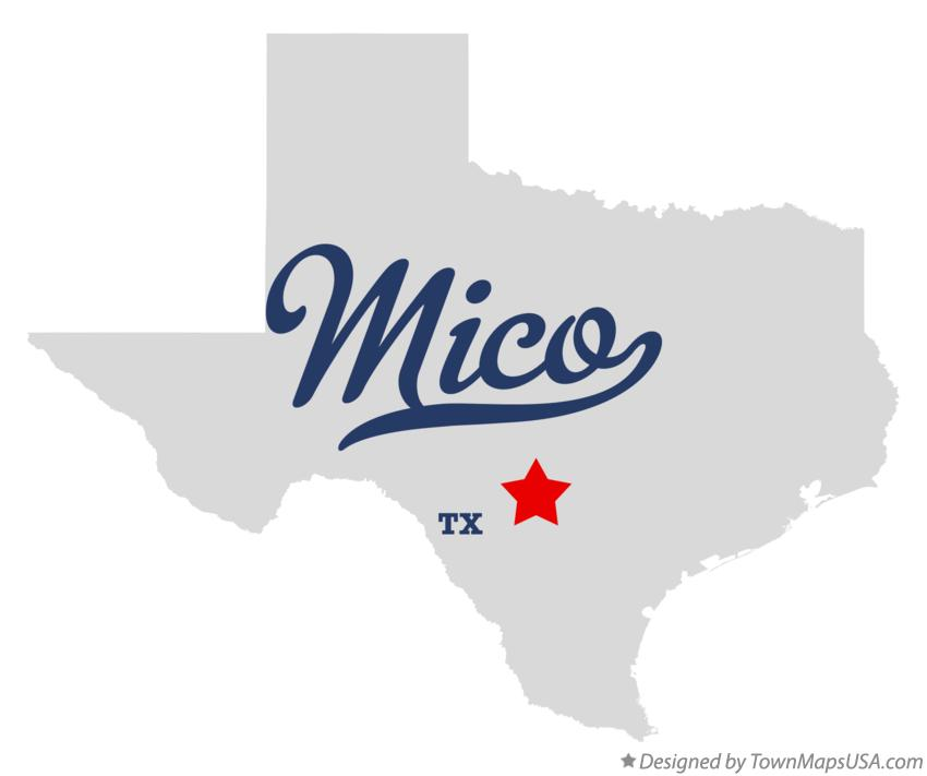 Map of Mico Texas TX