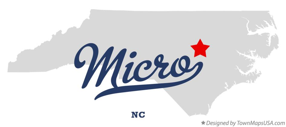 Map of Micro North Carolina NC