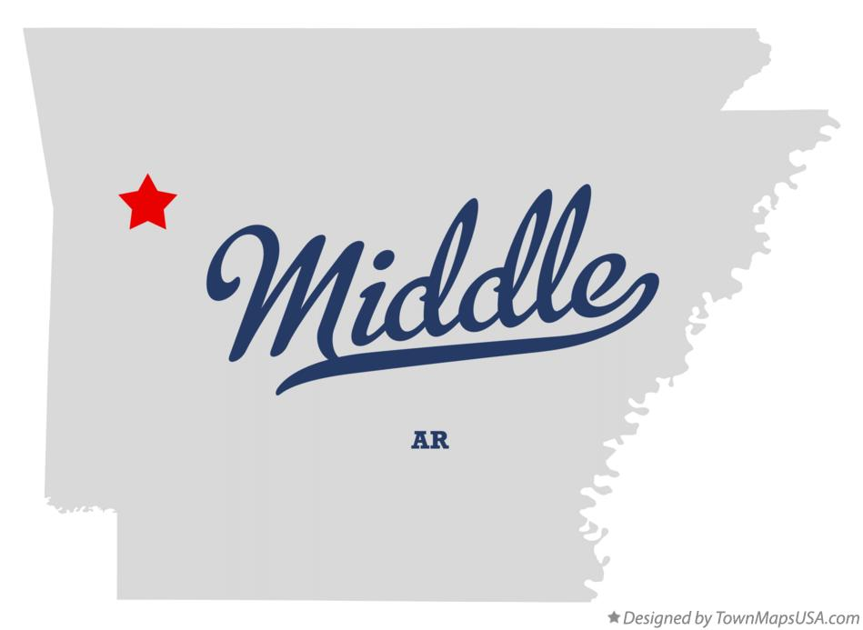 Map of Middle Arkansas AR