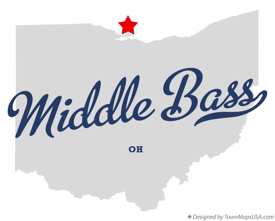Map of Middle Bass Ohio OH