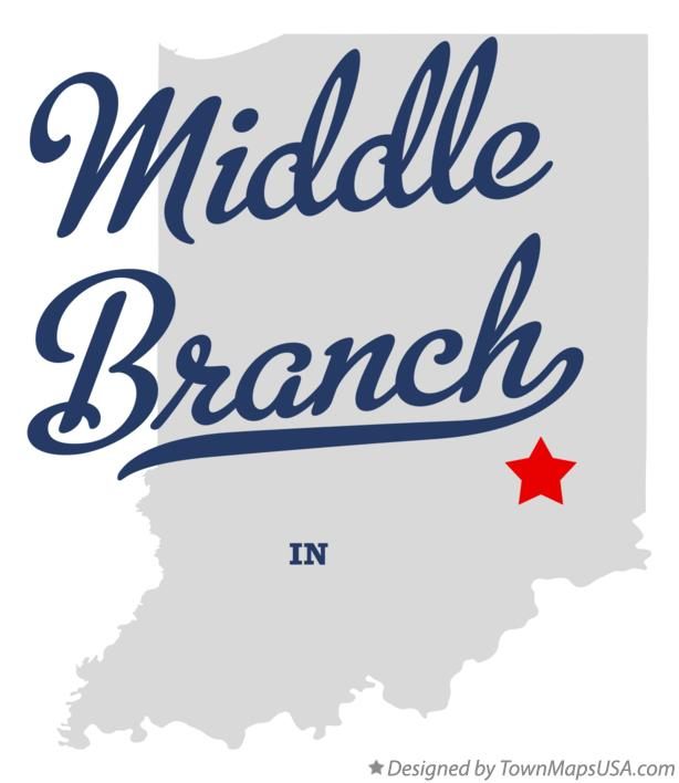 Map of Middle Branch Indiana IN