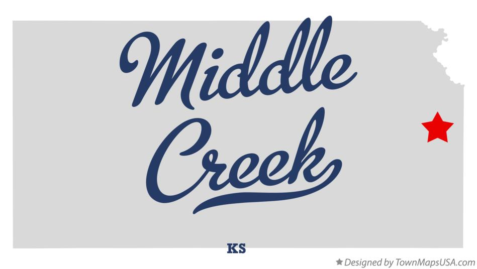 Map of Middle Creek Kansas KS
