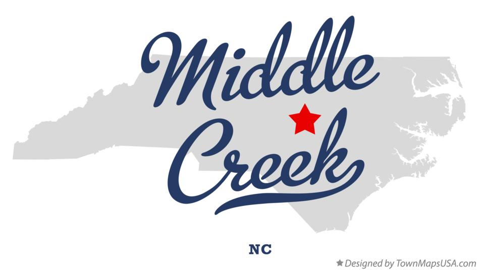 Map of Middle Creek North Carolina NC