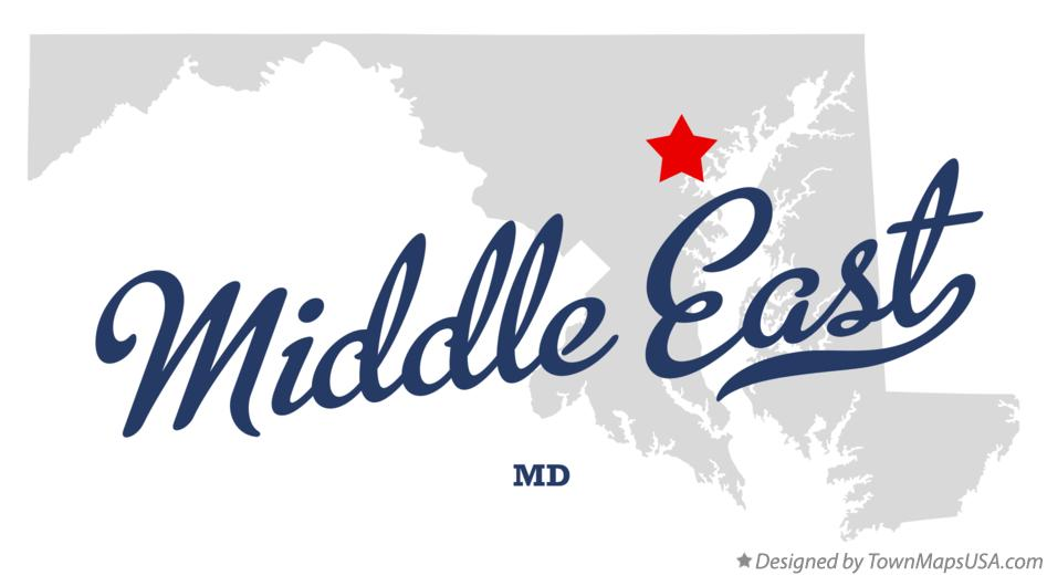 Map of Middle East Maryland MD