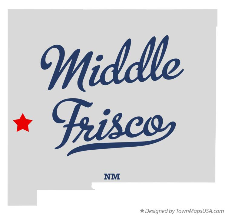 Map of Middle Frisco New Mexico NM