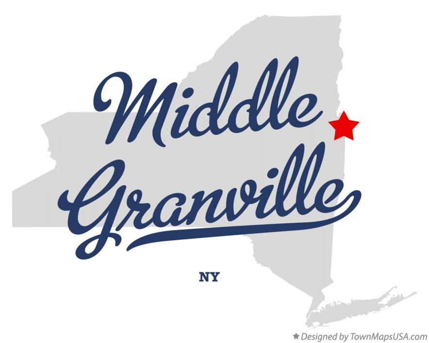 Map of Middle Granville New York NY