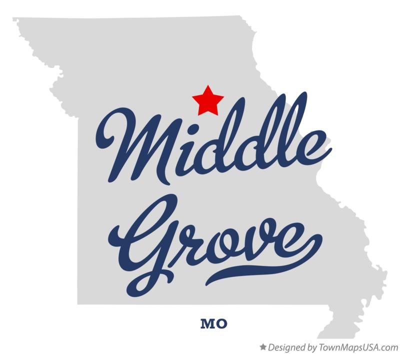Map of Middle Grove Missouri MO