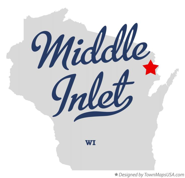 Map of Middle Inlet Wisconsin WI
