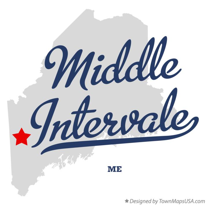 Map of Middle Intervale Maine ME