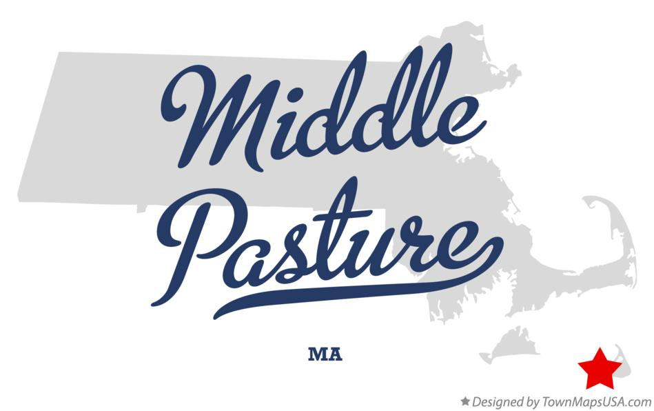 Map of Middle Pasture Massachusetts MA