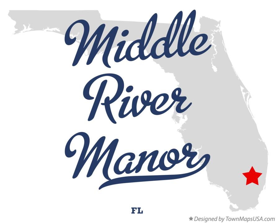 Map of Middle River Manor Florida FL