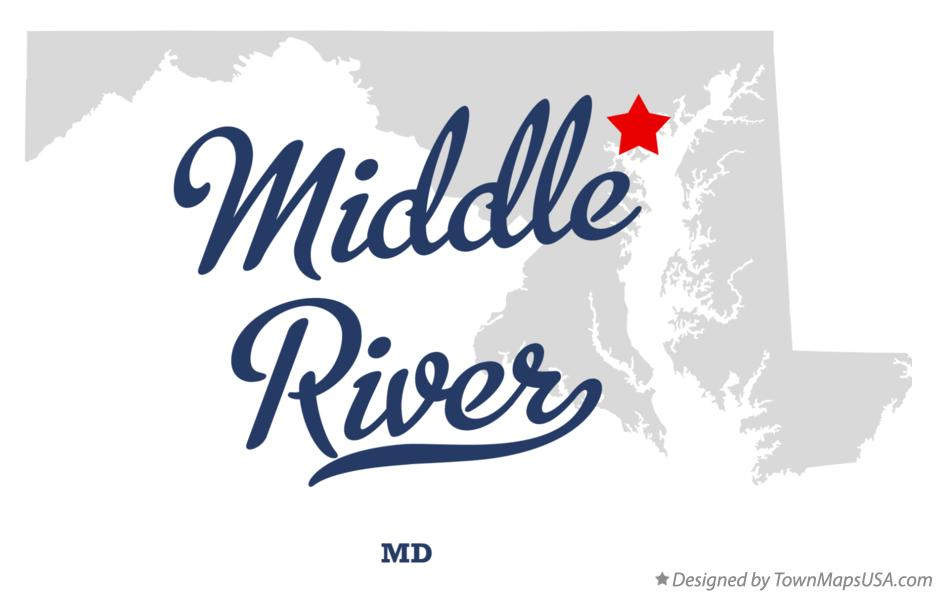 Map of Middle River Maryland MD