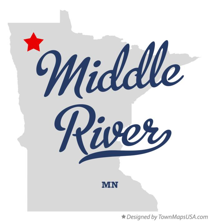 Map of Middle River Minnesota MN