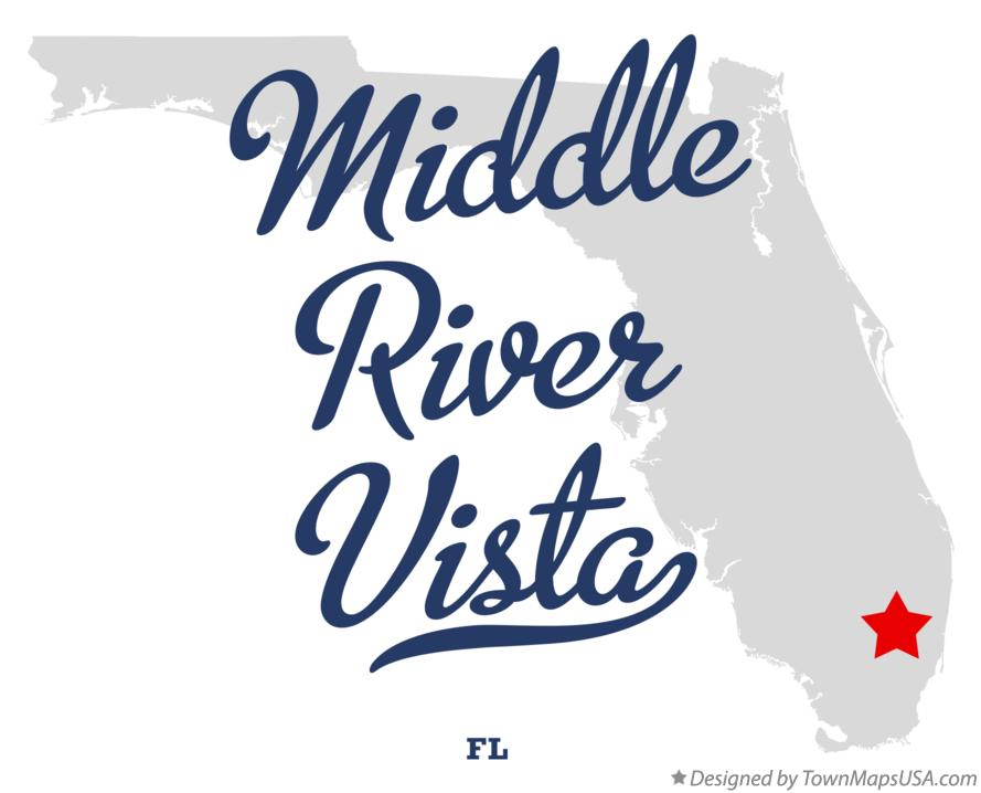 Map of Middle River Vista Florida FL