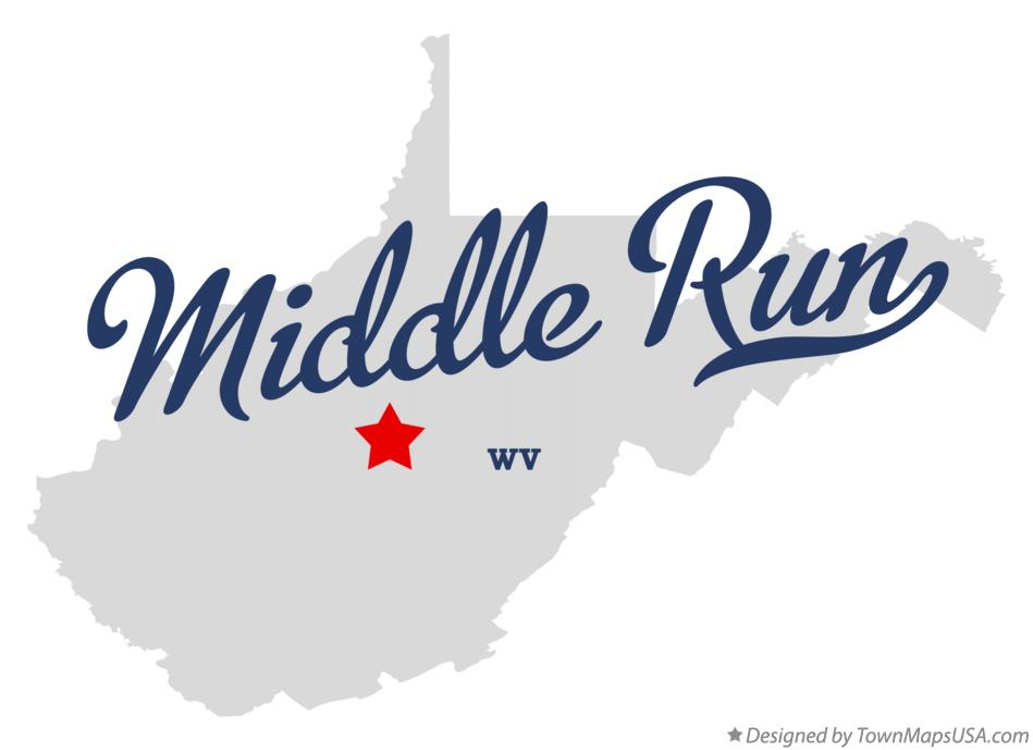Map of Middle Run West Virginia WV