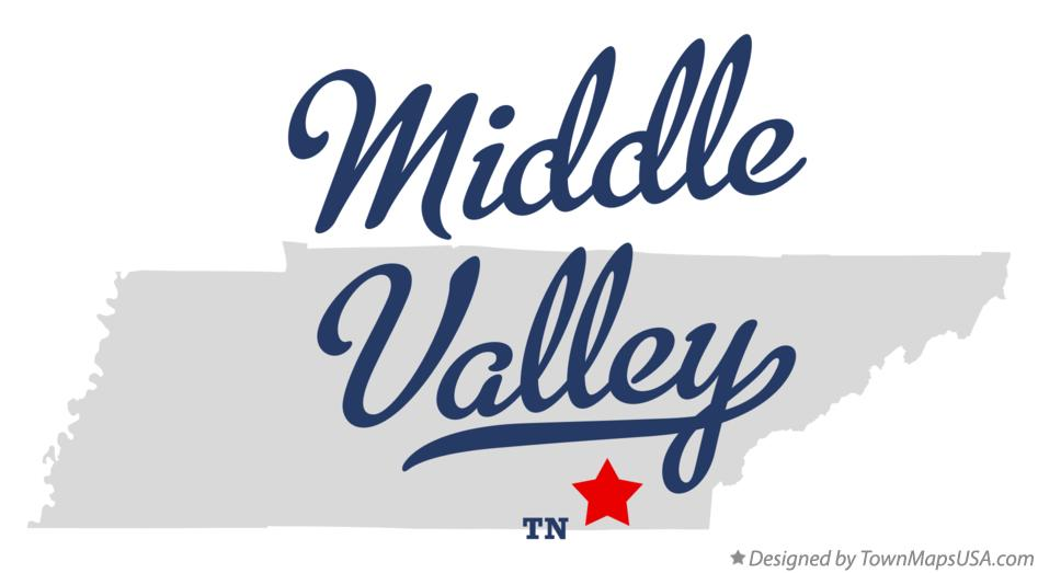 Map of Middle Valley Tennessee TN