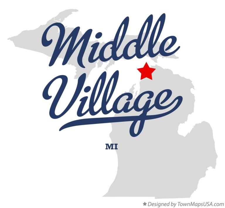 Map of Middle Village Michigan MI