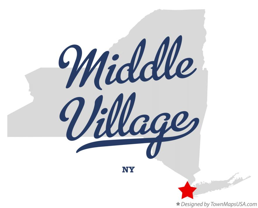Map of Middle Village New York NY