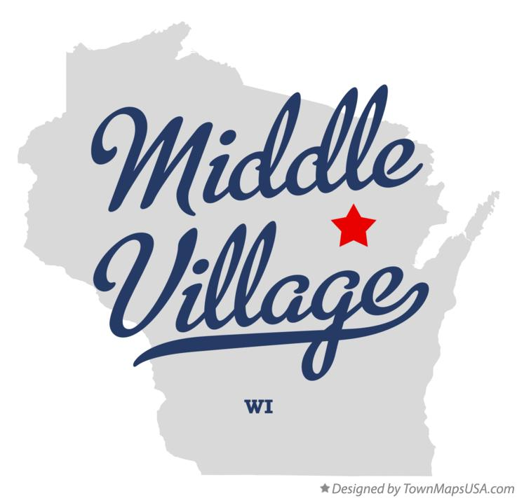Map of Middle Village Wisconsin WI
