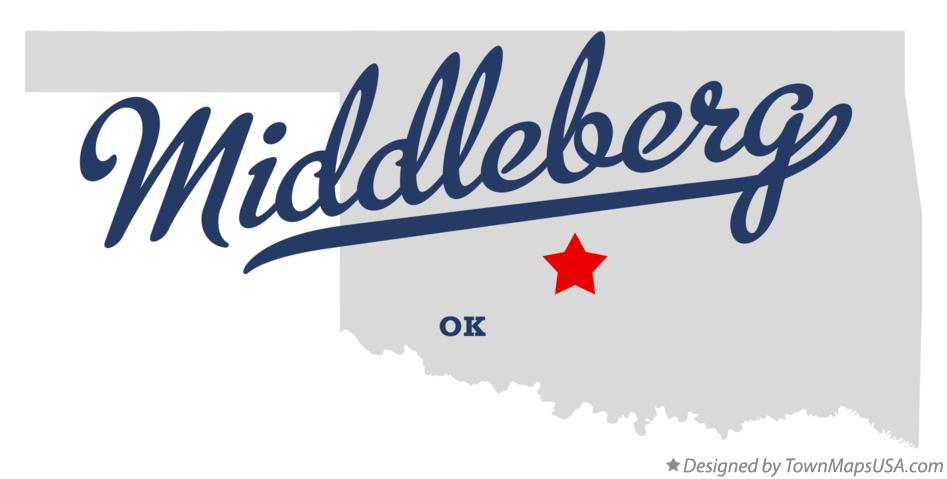 Map of Middleberg Oklahoma OK