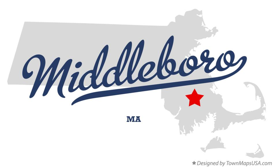 Map of Middleboro Massachusetts MA