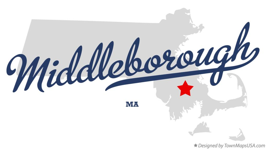 Map of Middleborough Massachusetts MA
