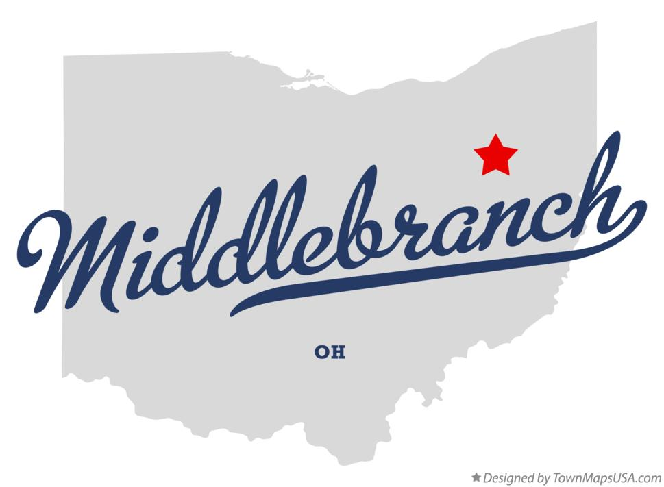 Map of Middlebranch Ohio OH