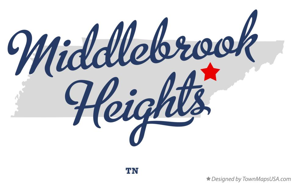 Map of Middlebrook Heights Tennessee TN