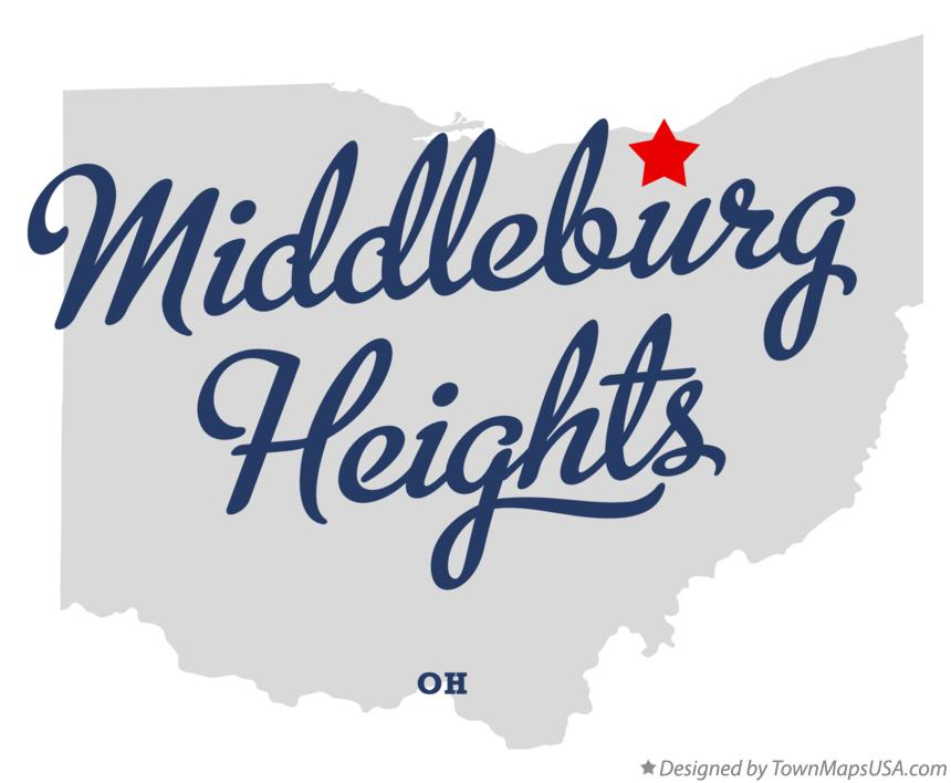 Map of Middleburg Heights Ohio OH