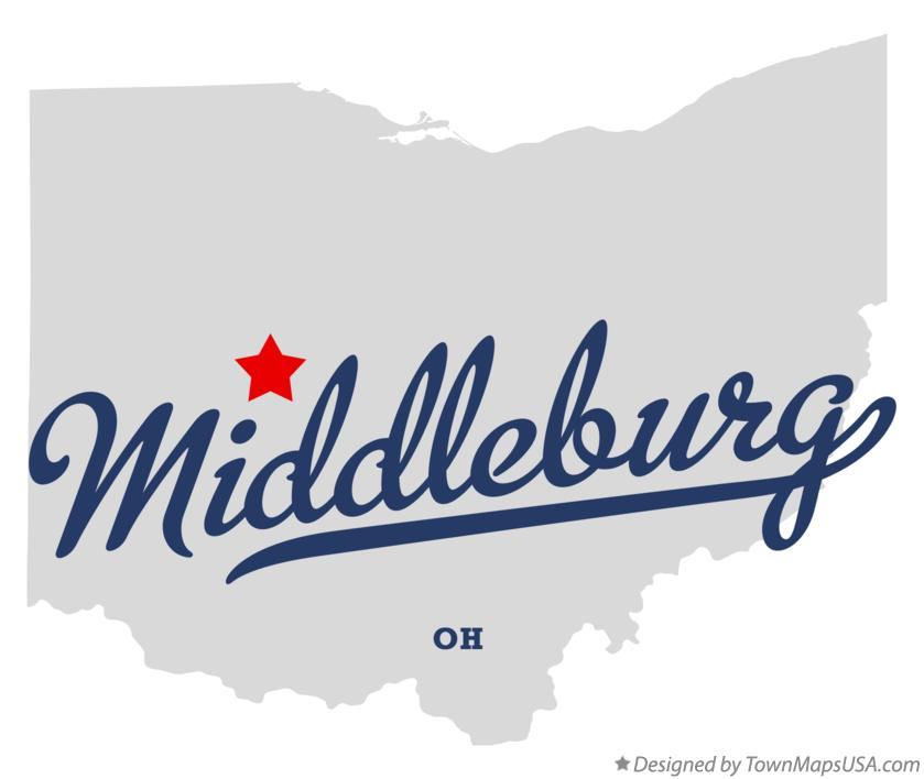 Map of Middleburg Ohio OH