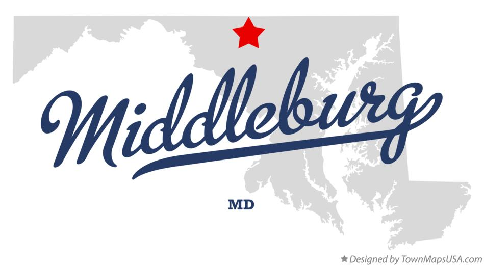 Map of Middleburg Maryland MD
