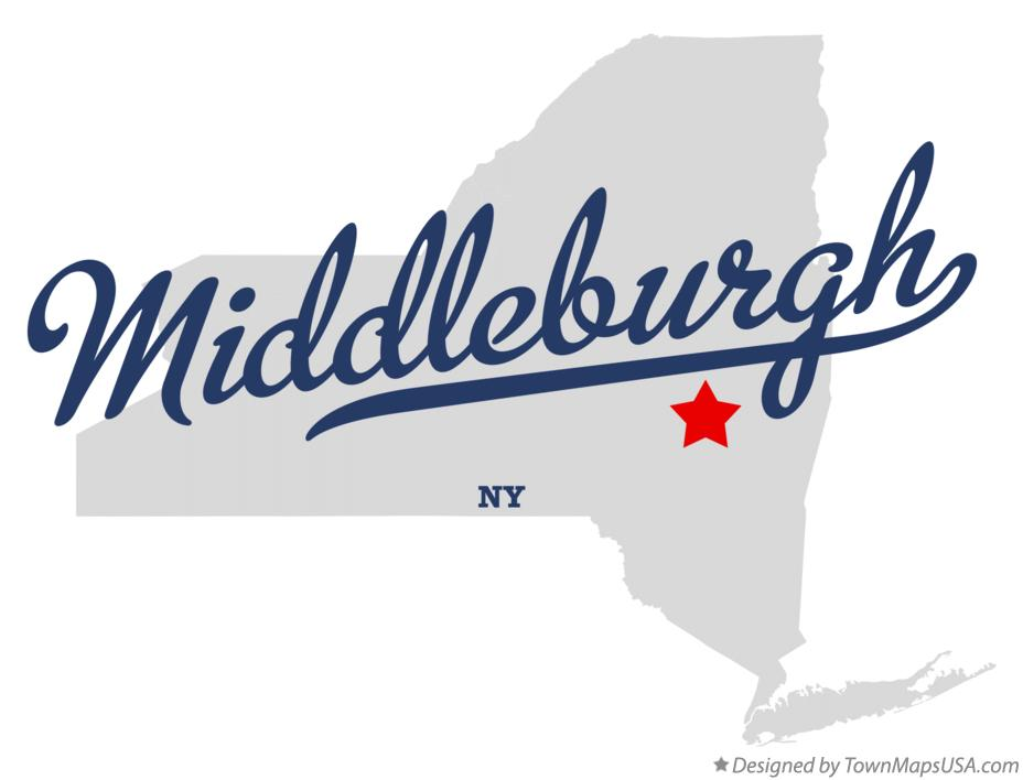 Map of Middleburgh New York NY