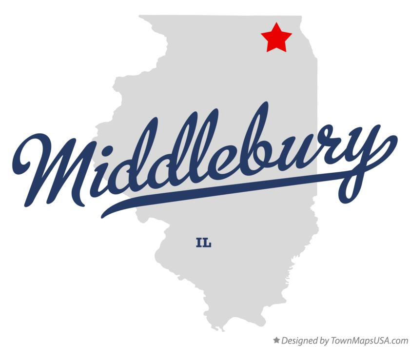 Map of Middlebury Illinois IL